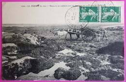 Cpa Le Croisic Récolte Du Goémon Sur Les Rochers De La Plage Saint Goustan 1910 Carte Postale 44 Attelage Agriculture - Agriculture