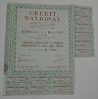 Crédit National, Emprunt 4% 1941-1953 - Banque & Assurance