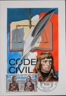 CARTE  MAXIMUM  ANNEE 1973 - Le Code Civil - Paris Le 03.11.1973 - Maximum Cards