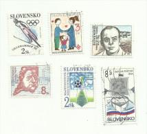 Slovaquie N°152 à 155, 158, 160 Côte 1.70 Euros - Slovaquie