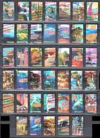 United States 2006 Wonders Of America  Sc # 4033-4072 -Mi. 4078-4117 Complete Set - Used - Vereinigte Staaten