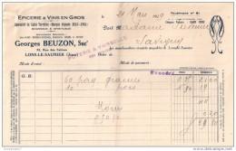 39 68 LONS LE SAUNIER Epicerie GEORGES BEUZON dest Ets LEON BANET MOUREAU GUICHARD MARCHAND &amp  MICHEL 1926 dest S