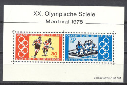 Deutschland 1976 Mi Block 12 ** 888 + 889 XXI. Olympische Spiele Montreal Olympic Games - Blocks & Sheetlets
