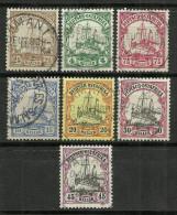 DEUTSCH-OSTAFRIKA, GERMAN EAST AFRICA MICHEL 22/28 FINE USED. SHIP. 90 €. - Colony: German East Africa
