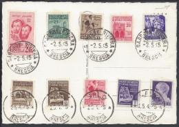 ITALIE - 1945 -  BEL AFFRANCHISSEMENT DE TIMBRES DE LA REPUBLIQUE SOCIALE ITALIENNE SUR CARTE POSTALE - - 4. 1944-45 Repubblica Sociale