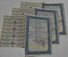 3 Titres, Usines De Fabrication De Tubes Et Forges De Sosnowice à Varsovie - Industrie