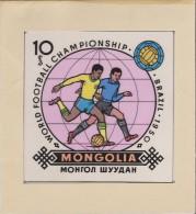 Mongolie 1982 Y&T 1173. Maquette. Coupe Du Monde De Football, En Espagne. Brésil, Champion Du Monde En 1950 - Fußball-Weltmeisterschaft