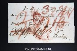 Deutschland: 1814 Complete Letter , Wax Sealed - Deutschland
