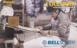 ECUADOR - Artisanat 3/Otavalo, BellSouth Telecard, Chip GEM1a, Used