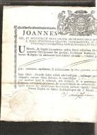 CORSE AJACCIO ACTE DE BAPTEME DE 1773  BEAU CARTOUCHE ! - Documents Historiques