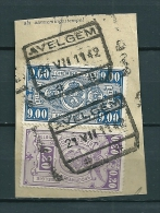 Fragment Met Stempel AVELGEM * - Railway