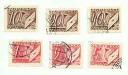 Slovaquie Taxe N°26 à 28, 32, 36, 39 Côte 3.90 Euros - Slovaquie