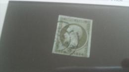 LOT 242541 TIMBRE DE FRANCE OBLITERE N�11 VALEUR 90 EUROS
