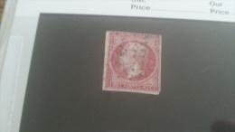 LOT 242555 TIMBRE DE FRANCE OBLITERE N�17B VALEUR 55 EUROS