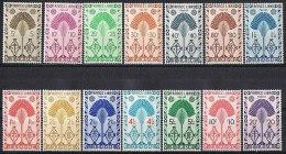 B015 DEFINITIVES WAAIER NATIONAL HISTORY MALAGASY MADAGASCAR 1943 ONG/MH