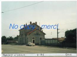 1 Photo  - Gare De PARGNY SAULX - Treinen