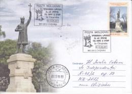 MOLDOVA , MOLDAVIE , MOLDAWIEN , MOLDAU , 2011 ; The Ruler Stephen The Great ; Special Cancell. - Moldavia