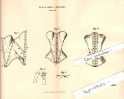 Original Patent - Silvan Meier In München , 1890 , Korsett , Corset !!! - Ante 1900
