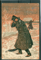 Relief - Gaufrée - Embossed - Prage - Caricature - TBE Précurseur - Fancy Cards