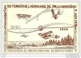 SPA ..-- Journ�e d' aviation de SPA . 05 juin 1938 . Par AVION de SPA � BRUXELLES . Pas courant .