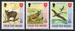 C080 FAUNA VOGELS BIRDS OISEAUX VÖGEL AVES KATTEN CATS CHATS KATZE ISLE OF MAN 1973 PF/MNH - Timbres
