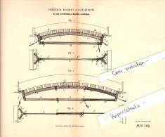 Original Patent - Friedrich Träbert In Rathenow , 1889 , Gewölbe - Lehrbogen , Architektur , Architekt !!! - Architektur