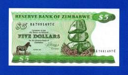 Zimbabwe 5 $ Dollars 1983 P2c Harare UNC- - Zimbabwe