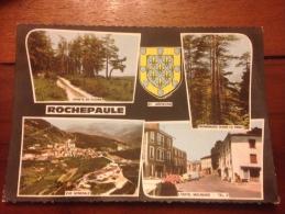 Rochepaule Multi Vue Cpm - France