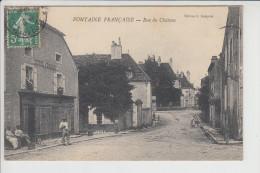 Carte De Fontaine Française  ( Hôtel  Raisin ) ( Recto Verso ) - Francia