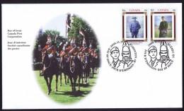 2000   Canadian Regiments Sc 1876-77  Pair - 1991-2000