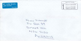 Great Britain 2001 Postage Paid  Cover Sent To Australia - 1952-.... (Elizabeth II)