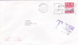Hong Kong 1999 Taxed Cover Sent To Australia - Hong Kong (1997-...)