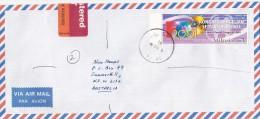 Malaysia 2001 Registered Cover Sent To Australia - Malaysia (1964-...)