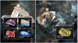 Niger 2014 - Minerals Souvenir Set Official Issue Mnh - Minerals