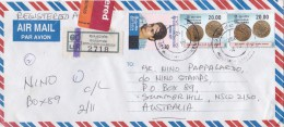 Sri Lanka 2001 Registered Cover Sent To Australia - Sri Lanka (Ceylan) (1948-...)