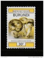 9] VERY TRES RARE: 1 timbre stamp ** Burundi champignon mushroom couleur jaune uniquement only yellow colour