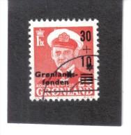 BIN348  GRÖNLAND 1959  Michl  43  Used / Gestempelt - Used Stamps