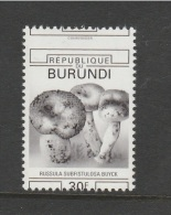 9] VERY TRES RARE: 1 timbre stamp ** Burundi champignon mushroom unwedged perforation d�cal�e pas de couleurs no colours