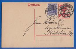 Deutschland; DR; 20+10 Pf. Nationalversammlung; 1920; Ganzsache Mit Stempel Stralsund - Ganzsachen