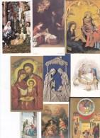 9 SANTINI  SACRA FAMIGLIA - Images Religieuses