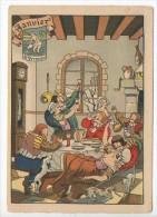CP Barre Et Dayez - Les Douze Mois De L´année JANVIER - Le Verseau - N° 1288 A - Illustrateur Illisible Couleur Foncé - Barday