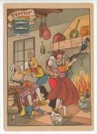 CP Barre Et Dayez - Les Douze Mois De L´année FÉVRIER - Les Poissons - N° 1288 B - Illustrateur Illisible - Barday