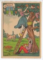CP Barre Et Dayez - Les Douze Mois De L´année AOUT - La Vierge - N° 1288 H - Illustrateur Illisible - Barday