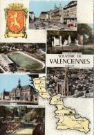CP - PHOTO - SOUVENIR DE VALENCIENNES - MULTIVUES -PLACE D'ARME - LE MONUMENT AUX MORTS - LE STADE NUNGESSER - LA GARE - - Valenciennes