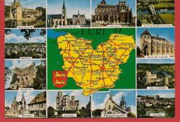 Carte Contour Géographique Du Département De L'EURE - Unclassified