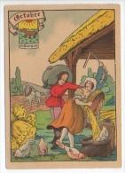 CP Barre Et Dayez - Les Douze Mois De L´année OCTOBRE - Le Scorpion - N° 1288 K - Illustrateur Illisible - Barday
