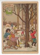 CP Barre Et Dayez - Les Douze Mois De L'année DECEMBRE - Le Capricorne - N° 1288 M - Illustrateur Illisible - Barday