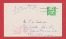 USA  //   Entier Postal  //  Pour Paris  //   4 Dec 1970