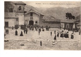 C P A--PEROU--HUARAZ--sortie De La Messe D'actions De Grâces (21 Septembre 1903)--voir 2 Scans - Peru