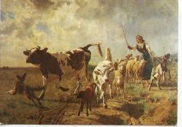 """Honfleur : Adolphe Marais """"Le Retour Du Troupeau"""" Peinture à L'huile Sur Toile (arts Tableaux) Musée E. Boudin - Honfleur"""
